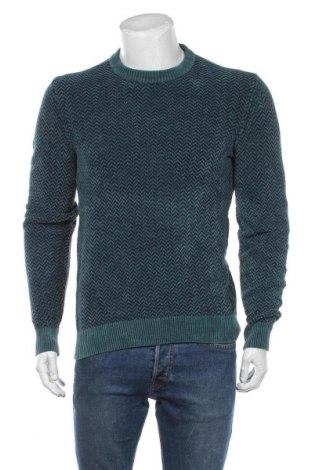 Pulover de bărbați Hugo Boss, Mărime M, Culoare Verde, Bumbac, Preț 819,08 Lei