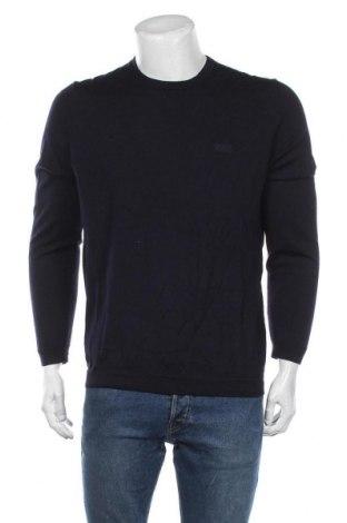 Pulover de bărbați Hugo Boss, Mărime XL, Culoare Albastru, Lână, Preț 851,97 Lei
