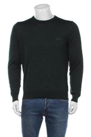 Мъжки пуловер Hugo Boss, Размер L, Цвят Зелен, Вълна, Цена 171,75лв.