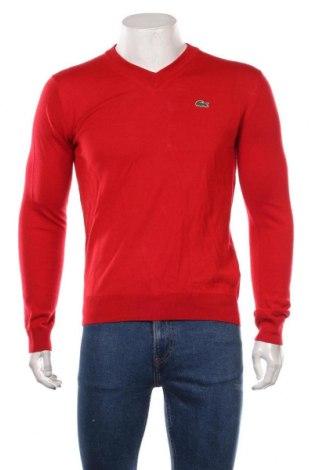 Pulover de bărbați Lacoste, Mărime S, Culoare Roșu, 50% lână, 50%acril, Preț 523,03 Lei