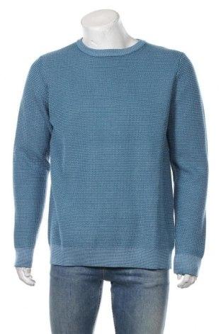Pulover de bărbați Mo, Mărime XL, Culoare Albastru, 55%acril, 45% bumbac, Preț 194,08 Lei