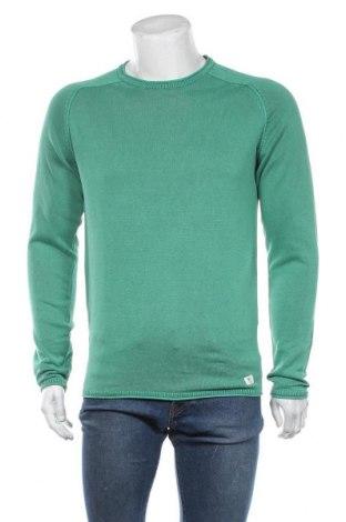 Мъжки пуловер Tom Tailor, Размер M, Цвят Зелен, Памук, Цена 42,00лв.