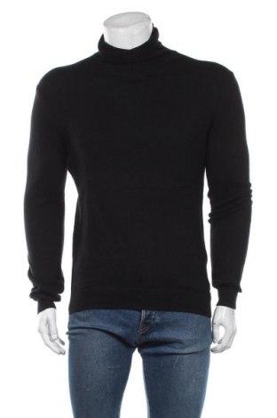 Мъжки пуловер Tom Tailor, Размер M, Цвят Черен, 95% памук, 5% кашмир, Цена 51,75лв.