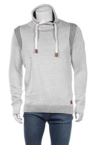 Мъжки пуловер Tom Tailor, Размер L, Цвят Сив, 50% памук, 50% полиакрил, Цена 51,75лв.