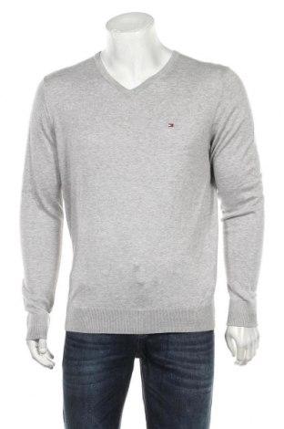 Мъжки пуловер Tommy Hilfiger, Размер XL, Цвят Сив, 89% памук, 11% коприна, Цена 96,75лв.