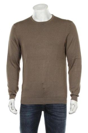 Pulover de bărbați Zara, Mărime M, Culoare Maro, 83% viscoză, 17% poliamidă, Preț 118,42 Lei
