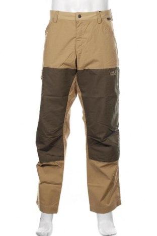 Мъжки спортен панталон Jack Wolfskin, Размер L, Цвят Бежов, 65% полиестер, 35% памук, Цена 111,75лв.