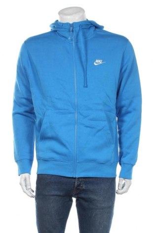 Hanorac de bărbați Nike, Mărime M, Culoare Albastru, 80% bumbac, 20% poliester, Preț 226,97 Lei