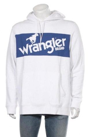 Мъжки суичър Wrangler, Размер XXL, Цвят Бял, Памук, Цена 66,75лв.