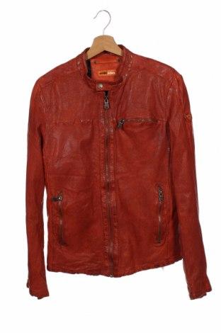 Мъжко кожено яке Emilio Adani, Размер S, Цвят Червен, Естествена кожа, Цена 102,90лв.