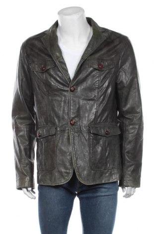 Мъжко кожено яке Goosecraft, Размер L, Цвят Зелен, Естествена кожа, Цена 166,95лв.