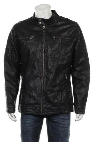 Мъжко кожено яке Identic, Размер XXL, Цвят Черен, Еко кожа, Цена 53,55лв.