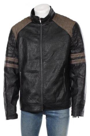 Мъжко кожено яке Liberto, Размер XXL, Цвят Черен, Еко кожа, Цена 50,40лв.