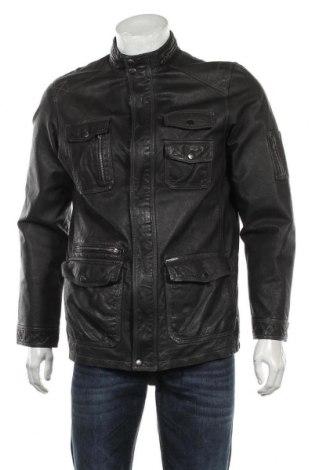 Мъжко кожено яке Maze, Размер M, Цвят Черен, Естествена кожа, Цена 123,90лв.