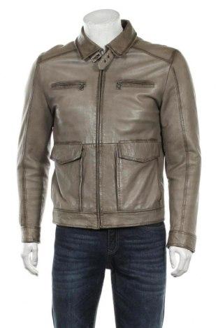 Мъжко кожено яке Milestone, Размер M, Цвят Бежов, Естествена кожа, Цена 119,25лв.