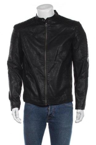 Мъжко кожено яке Originals By Jack & Jones, Размер L, Цвят Черен, Еко кожа, Цена 71,40лв.