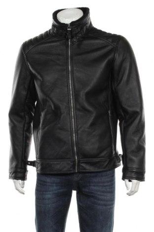 Мъжко кожено яке S.Oliver, Размер L, Цвят Черен, Еко кожа, Цена 119,25лв.
