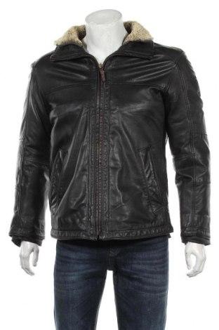 Мъжко кожено яке Strellson, Размер M, Цвят Черен, Естествена кожа, Цена 128,10лв.