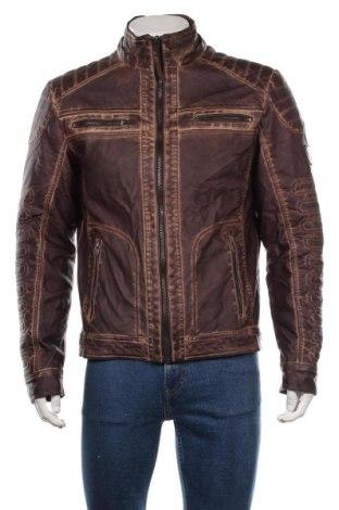 Мъжко кожено яке Tom Tompson, Размер L, Цвят Кафяв, Еко кожа, Цена 54,60лв.