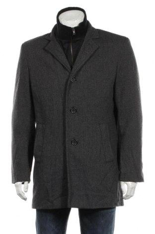 Palton de bărbați, Mărime L, Culoare Gri, 80% lână, 20% poliamidă, Preț 205,58 Lei