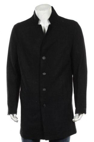Мъжко палто Devred 1902, Размер L, Цвят Черен, 68% вълна, 24% полиестер, 4% акрил, 2% полиамид, 2% вискоза, Цена 171,75лв.