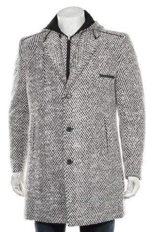 Мъжко палто Matteo Nessi, Размер L, Цвят Сив, 70% вълна, 30% полиестер, Цена 119,25лв.
