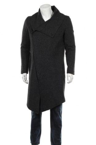 Мъжко палто RNT23 Jeans, Размер M, Цвят Сив, 75% акрил, 15% полиестер, 10% памук, Цена 246,75лв.