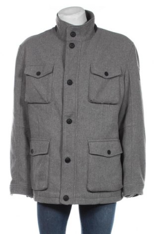 Мъжко палто S.Oliver, Размер 3XL, Цвят Сив, 90% полиестер, 10% вълна, Цена 171,75лв.
