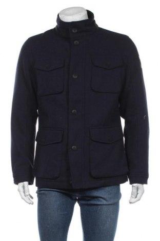 Мъжко палто S.Oliver, Размер L, Цвят Син, 90% полиестер, 10% вълна, Цена 179,25лв.
