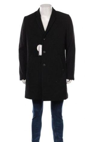 Мъжко палто S.Oliver, Размер L, Цвят Черен, 54% полиестер, 38% вълна, 5% други тъкани, 3% вискоза, Цена 164,25лв.