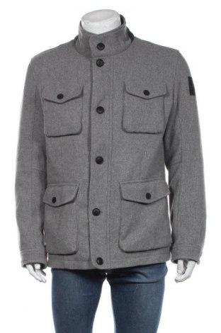 Мъжко палто S.Oliver, Размер XL, Цвят Сив, 90% полиестер, 10% вълна, Цена 179,25лв.