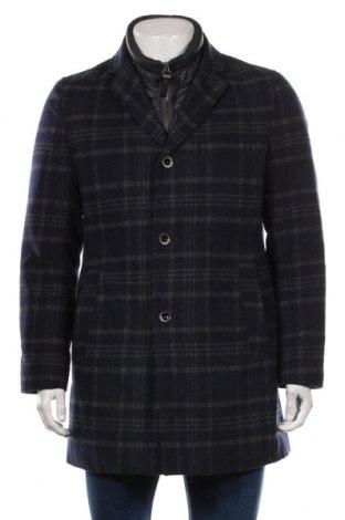 Мъжко палто S.Oliver, Размер L, Цвят Син, 58% полиестер, 31% вълна, 3% акрил, 3% вискоза, 3% полиамид, 2% памук, Цена 164,25лв.
