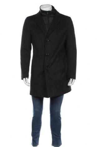 Ανδρικά παλτό S.Oliver, Μέγεθος L, Χρώμα Μαύρο, 60% πολυεστέρας, 40% μαλλί, Τιμή 111,73€