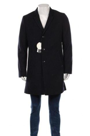 Мъжко палто S.Oliver, Размер L, Цвят Син, 54% полиестер, 38% вълна, 5% други тъкани, 3% вискоза, Цена 164,25лв.