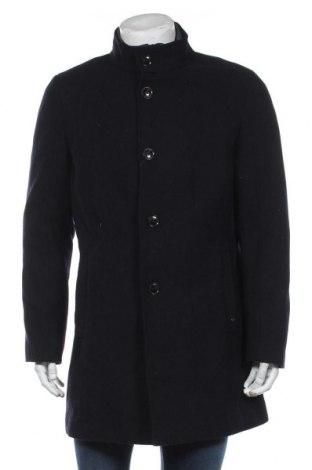 Ανδρικά παλτό S.Oliver, Μέγεθος L, Χρώμα Μπλέ, 54% πολυεστέρας, 38% μαλλί, 5% άλλα υλικά, 3% βισκόζη, Τιμή 111,73€