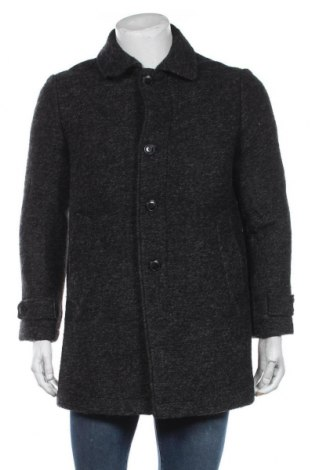 Мъжко палто S.Oliver, Размер S, Цвят Сив, 50% вълна, 47% полиестер, 3% полиакрил, Цена 224,25лв.