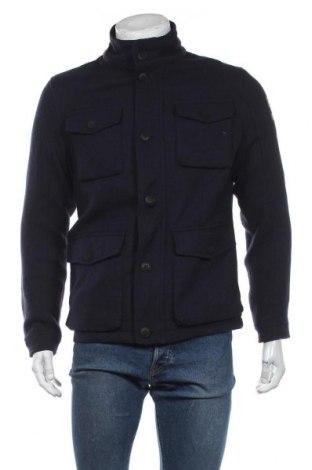 Мъжко палто S.Oliver, Размер M, Цвят Син, 90% полиестер, 10% вълна, Цена 171,75лв.