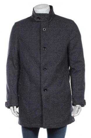 Мъжко палто S.Oliver, Размер L, Цвят Син, 82% полиестер, 5% вискоза, 5% вискоза, 4% памук, 3% полиакрил, 3% полиамид, 3% вълна, Цена 171,75лв.