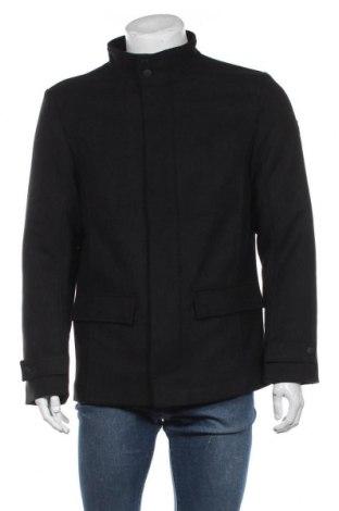 Мъжко палто Tom Tailor, Размер M, Цвят Черен, 61% полиестер, 17% вискоза, 11% вълна, 4% полиамид, 4% полиакрил, 3% памук, Цена 171,75лв.
