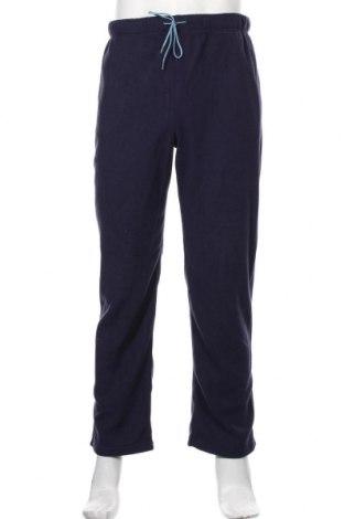 Pantaloni polar de bărbați, Mărime M, Culoare Albastru, Poliester, Preț 88,82 Lei
