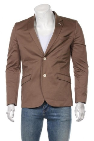 Sacou de bărbați H&M, Mărime M, Culoare Maro, 97% bumbac, 3% elastan, Preț 86,21 Lei
