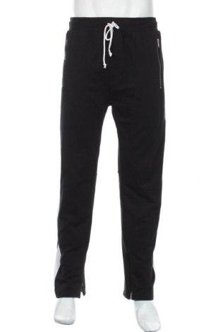 Pantaloni trening de bărbați, Mărime XL, Culoare Negru, 65% poliester, 35% bumbac, Preț 72,95 Lei
