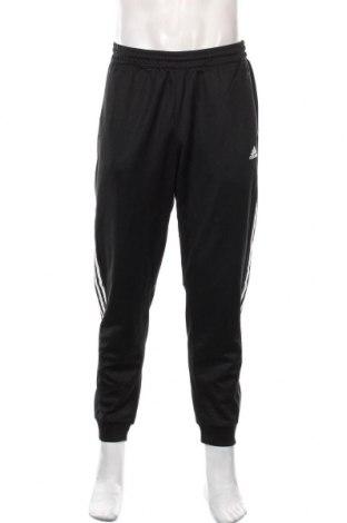 Мъжко спортно долнище Adidas, Размер L, Цвят Черен, 52% памук, 48% полиестер, Цена 44,10лв.