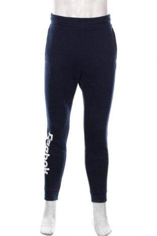 Pantaloni trening de bărbați Reebok, Mărime S, Culoare Albastru, 80% bumbac, 20% poliester, Preț 86,21 Lei