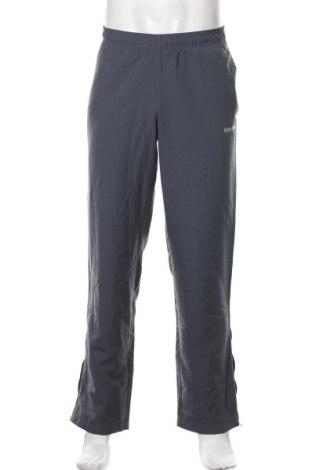 Pantaloni trening de bărbați Reebok, Mărime S, Culoare Gri, Poliester, Preț 89,53 Lei