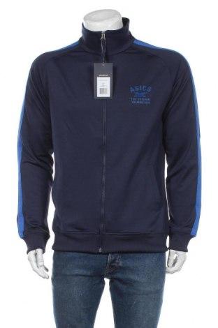 Bluză trening de bărbați ASICS, Mărime L, Culoare Albastru, 92% poliester, 8% elastan, Preț 219,57 Lei