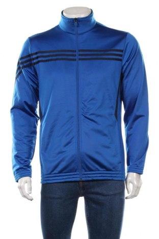 Мъжко спортно горнище Adidas, Размер M, Цвят Син, 100% полиестер, Цена 27,30лв.