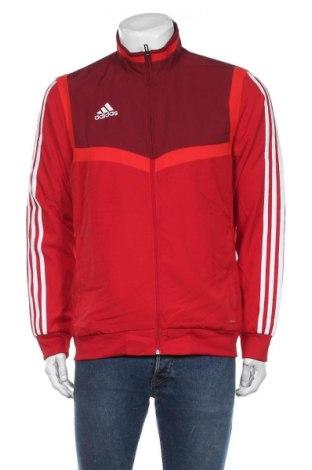 Мъжко спортно горнище Adidas, Размер M, Цвят Червен, Полиестер, Цена 44,10лв.