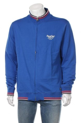 Bluză trening de bărbați Petrol Industries, Mărime XL, Culoare Albastru, 95% bumbac, 5% elastan, Preț 177,63 Lei