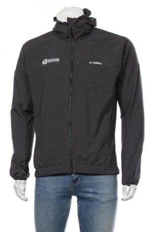 Мъжко спортно яке Adidas, Размер XL, Цвят Черен, 90% полиестер, 10% еластан, Цена 75,60лв.